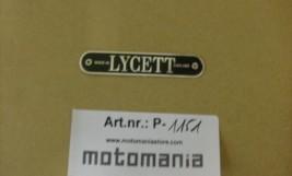 Lycett Typenschild